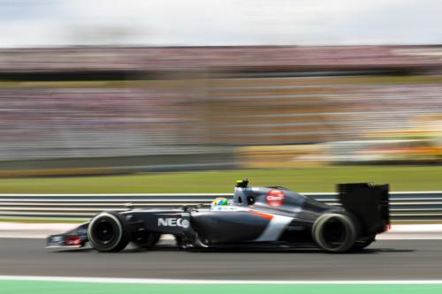 图文-F1匈牙利站周六影像 索伯车队古铁雷兹