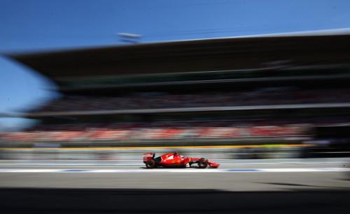 图文-F1西班牙站第3次练习 法拉利车队莱科宁