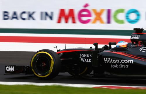 图文-F1墨西哥站排位赛 迈凯轮车队阿隆索