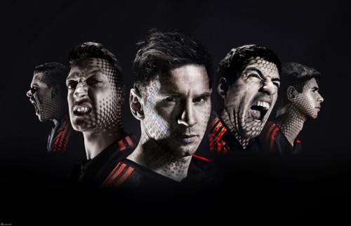 图文-球星拍摄世界杯战靴写真
