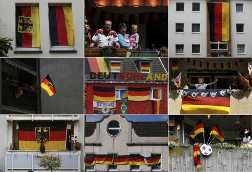 高清图-德迷挂国旗支持国家队宣战葡萄牙