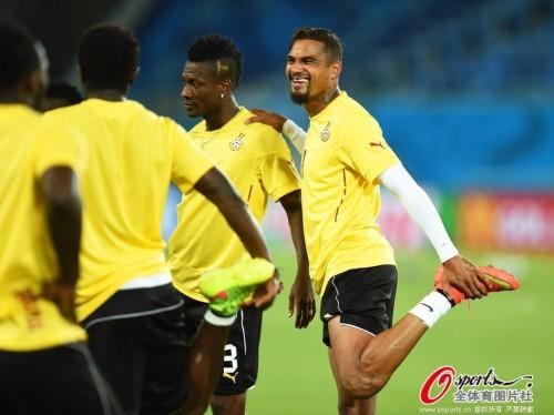 高清图-加纳队训练备战世界杯