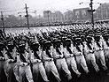 1956年国庆阅兵雨中进行