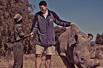 姚明与犀牛亲密接触