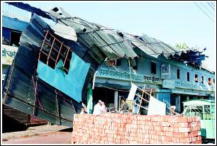 强热带风暴袭击孟加拉(图)