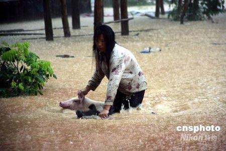 暴雨袭击南方造成55人死亡127万人转移