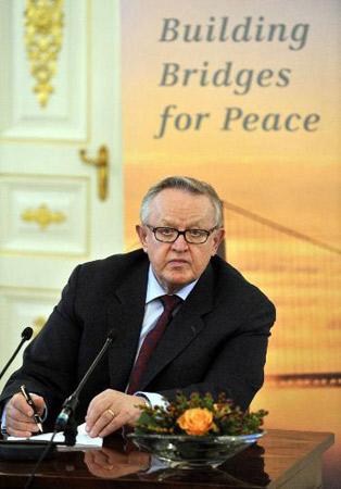 芬兰前总统阿赫蒂萨里获诺贝尔和平奖(组图)