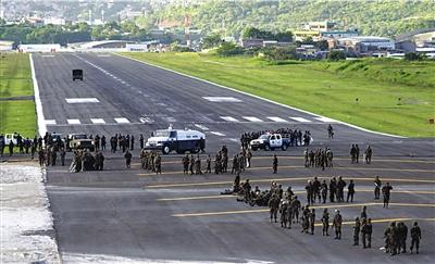 洪都拉斯被逐总统称今后两日将继续尝试回国