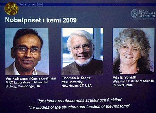 2009年诺贝尔化学奖得主简介(图)