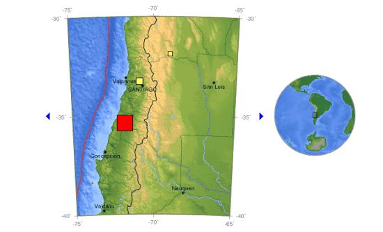 智利中部6.8级地震