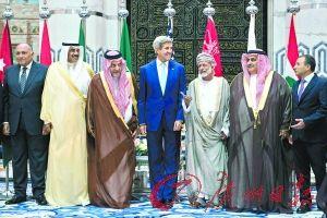 """9月11日,沙特阿拉伯吉达,美国国务卿克里结束对伊拉克的访问抵达吉达,商讨打击""""伊斯兰国""""事宜。 资料图"""