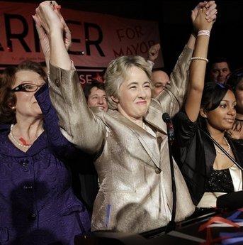 美国休斯顿产生首位同性恋女市长(组图)