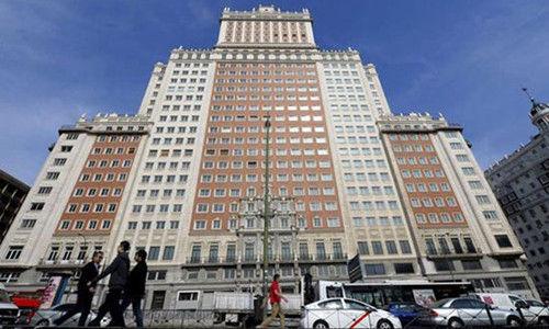 马德里地标性建筑西班牙大厦