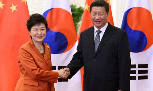 朴槿惠与习近平/资料图