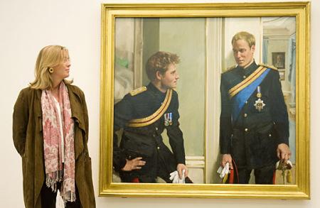 英王子兄弟肖像画曝光手足之情尽显