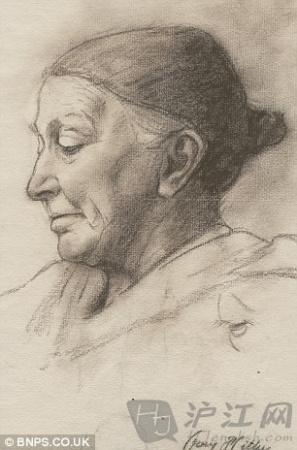 道夫希特勒壁纸_道夫希特勒一组少年时期的画作被展出