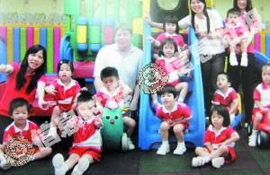 天价民园 海珠区英艺幼儿园设备齐全,进行全英文教学。