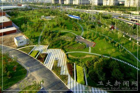 图文 北京工业大学校园风景 美丽的校园图片