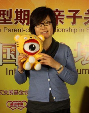 《时尚健康》杂志的主编孙雅君在论坛活动上