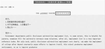 英语六级测验标题网上直播帖(网络截屏)