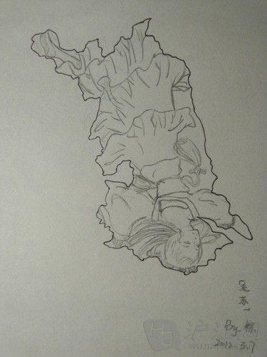 汉代美人手绘图