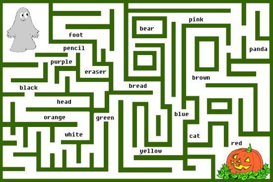 颜色学堂:数学宝宝巧记迷宫(图)单词升学考小学图片