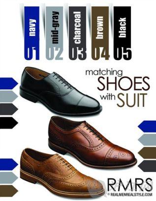 西装颜色跟皮鞋颜色的搭配技巧;