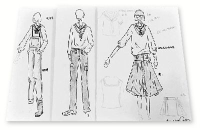 校服——男生大多是白衬衫西装裤