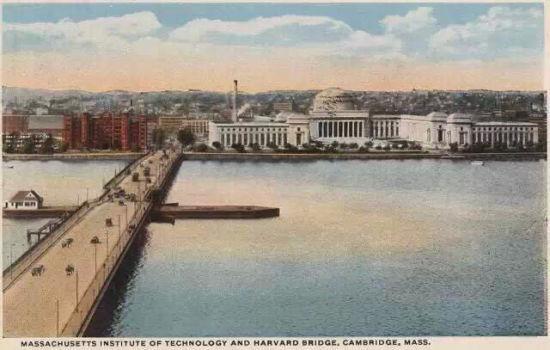 明信片上的哈佛桥