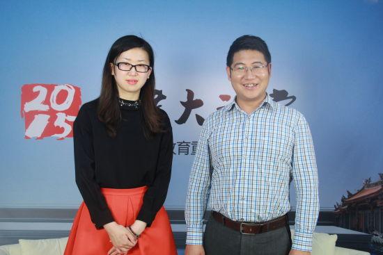 兰州大学招办副主任陈刚老师(右)做客新浪