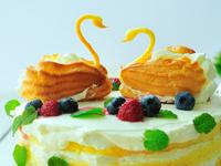 爱意满满优雅天鹅蛋糕