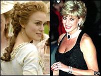 Keira Knightley and Princess Diana