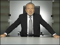 Sir Alan Sugar in his boardroom.