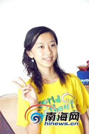 读高中时的叶婧的照片(资料图)