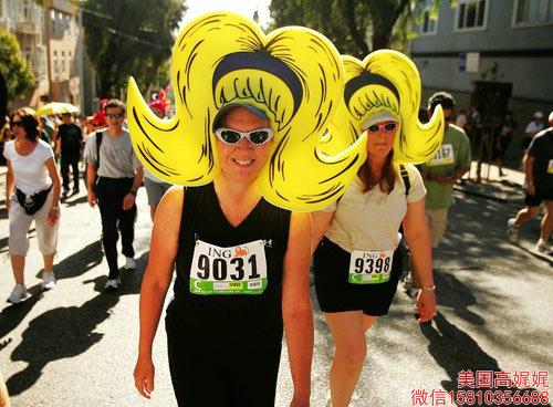 美国最重口味长跑节:旧金山越湾长跑(图)