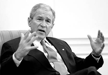 双语新闻:布什在白宫的最后一年(图)