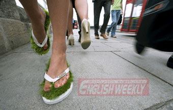 时尚派对:草地人字拖为你减压(图)
