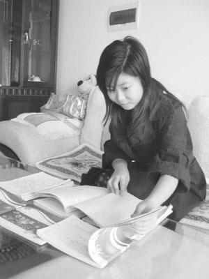 女孩将高考复习笔记整理出书获利一万元(图)