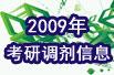 2009年考研调剂信息