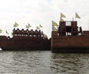 大清河停泊的战船