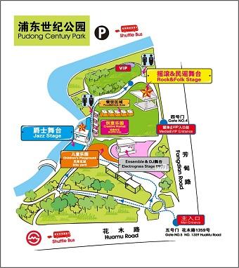 音乐节地图