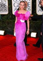 戴安-克鲁格紫裙亮相