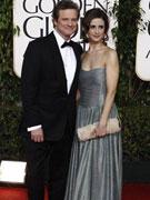 科林费尔斯与妻子亮相