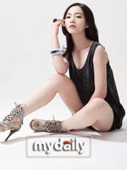 韩美女台球选手车侑兰