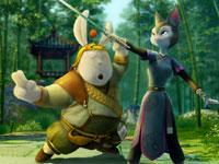 《兔侠传奇》剧照:兔侠与牡丹