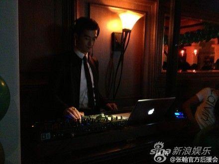 张翰换身DJ打碟