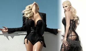 高清图:黑纱镂空秀翘臀