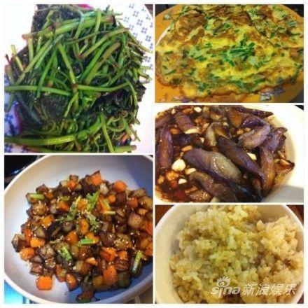 黄磊精心烹调的美食