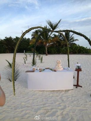 林志穎被曝疑在海島拍攝婚紗照