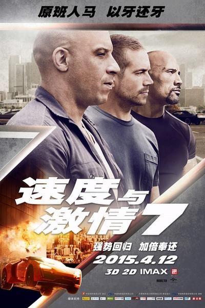《速度与激情7》海报